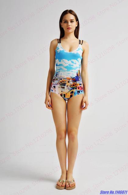 2ac2c6ec68 Sexy One Piece Swimsuits Strappy Bandage Swimwear Back Crossover Ladies Bathing  Suits Summer Blue Beachwear Brazilian Biquinies