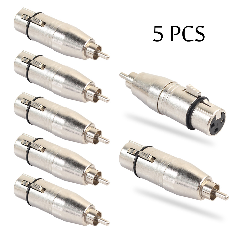 5Pcs 3-Pin XLR Female to RCA Male Plug Audio Cable Cord Microphone Adapter for Speaker Sound Console Transfer Hi-Fi Signal ugreen 6 5mm 1 4 male plug to 3 5mm 1 8 female jack stereo headphone headset audio adapter plug for microphone