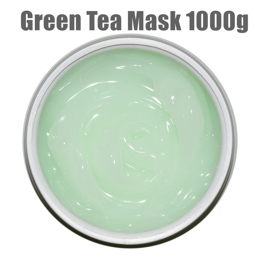 Natural Green Tea Mask Cosmeceutical Fresh Anti-inflammatory Anti-acne Oil Control Moisturizing Skin Care Cosmetics 1000g romanson rl 2635 lw bk bk