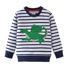 Boys T shirt Kids Winter Clothes Long Sleeve Cartoon Animals Print Cotton Tops for Children Cute Tees Baby Boy New