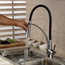 Двухслойные крепление масло втирают Бронзовый Кухня Раковина Санитарно-кран Одной ручкой отверстие смеситель нового