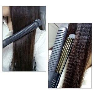 Image 4 - Plancha de hierro corrugado para el hogar, plancha antiquemaduras, plancha ondulada esponjosa, herramientas de diseño de placa estrecha 110 220 V
