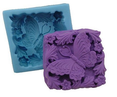 3D Butterfly Square Silicone Soap Mold Chocolate Mould Soap Candle DIY Mold Soap Making Mold Craft Art Cake Decorating Tool