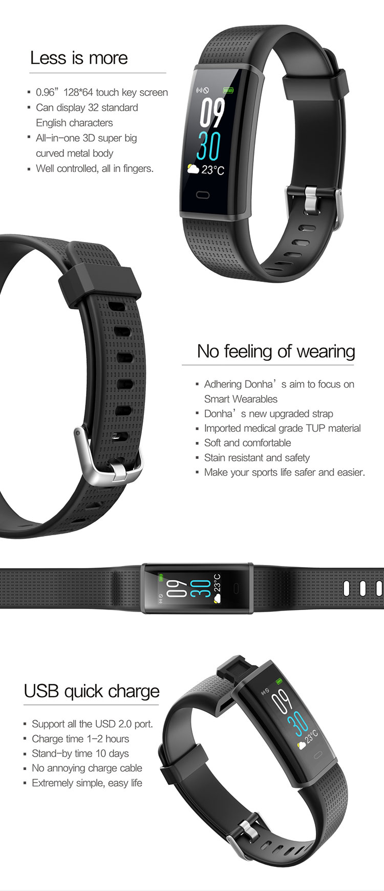 FENTORN Smart Wristbands ID130 Plus Color HR Smart Band Activity Tracker Fitness Smart Bracelet with pedometer for Xiaomi Iphone phones (12)