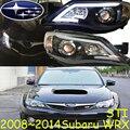 Carro-styling, Subar WRX farol, 2007 ~ 2014, navio Livre! Subar WRX nevoeiro, chrome, LED, 2 ps + 2 pcs Lastro Aozoom, Forester, outback, XV, o LEGADO