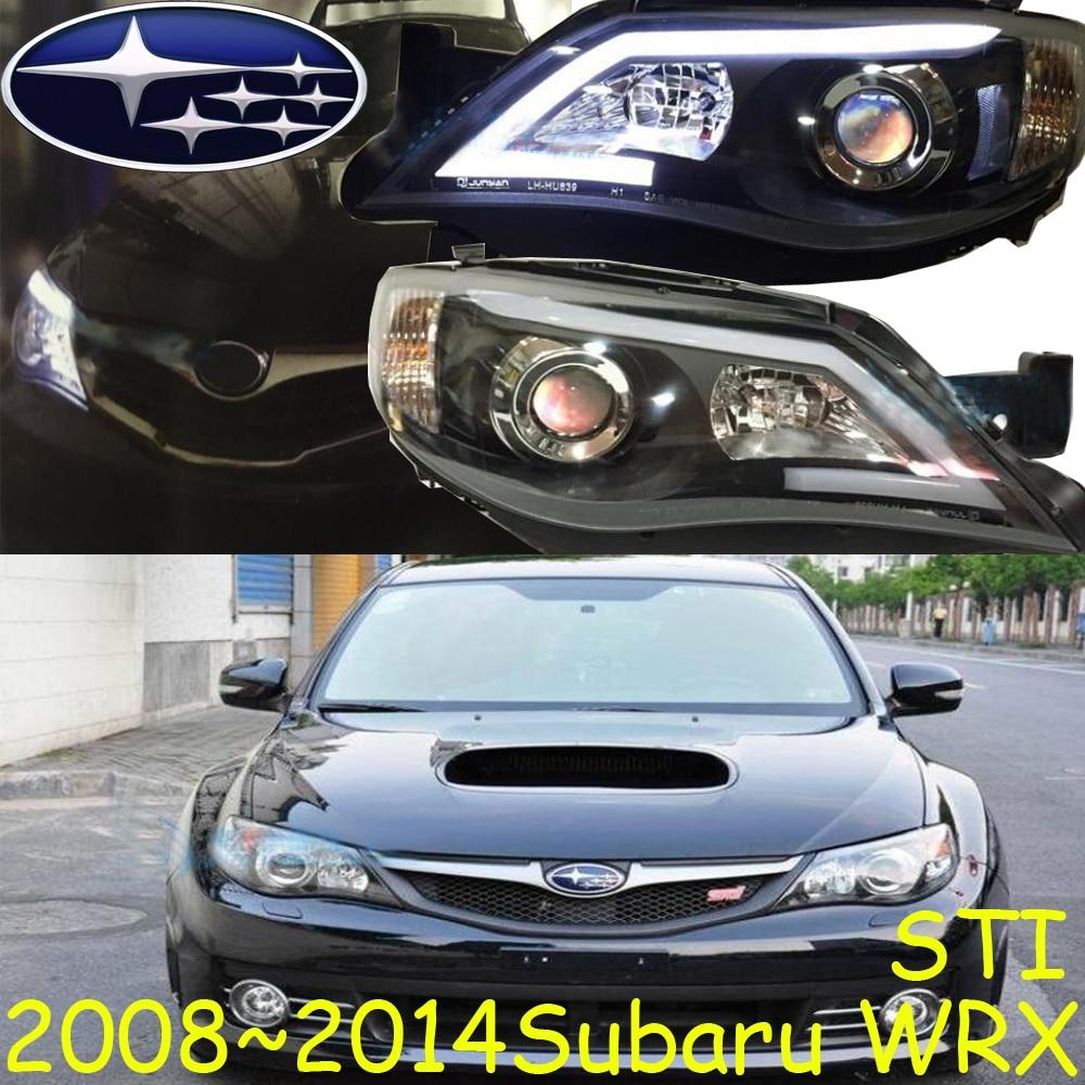 автомобиль-стайлинг,Субар WRX устанавливали фары,2007~2014,Бесплатная доставка! Субар WRX, с туманом,хром,светодиодные,2шт+2шт Aozoom балласт,Форестер,аутбэк,XV,наследие