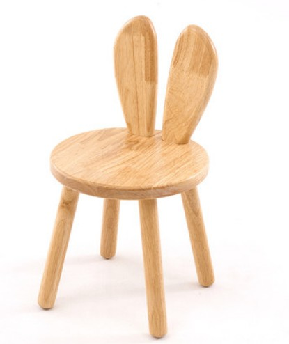 Us 85 5 Off Solid Wood Small Bench Wooden Stool Children Study Chair Baby Dining 28 49cm Kids Boys Rabbit Ears C139 In