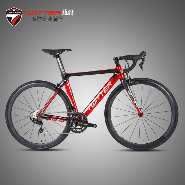 Twitter C4Pro Road Bicycle Aluminum Alloy Frame Carbon Fork Seatpost R3000-18 SRA-M/APE-X-20 R7000-22 Speed 40mm 700C Road Bikes цена