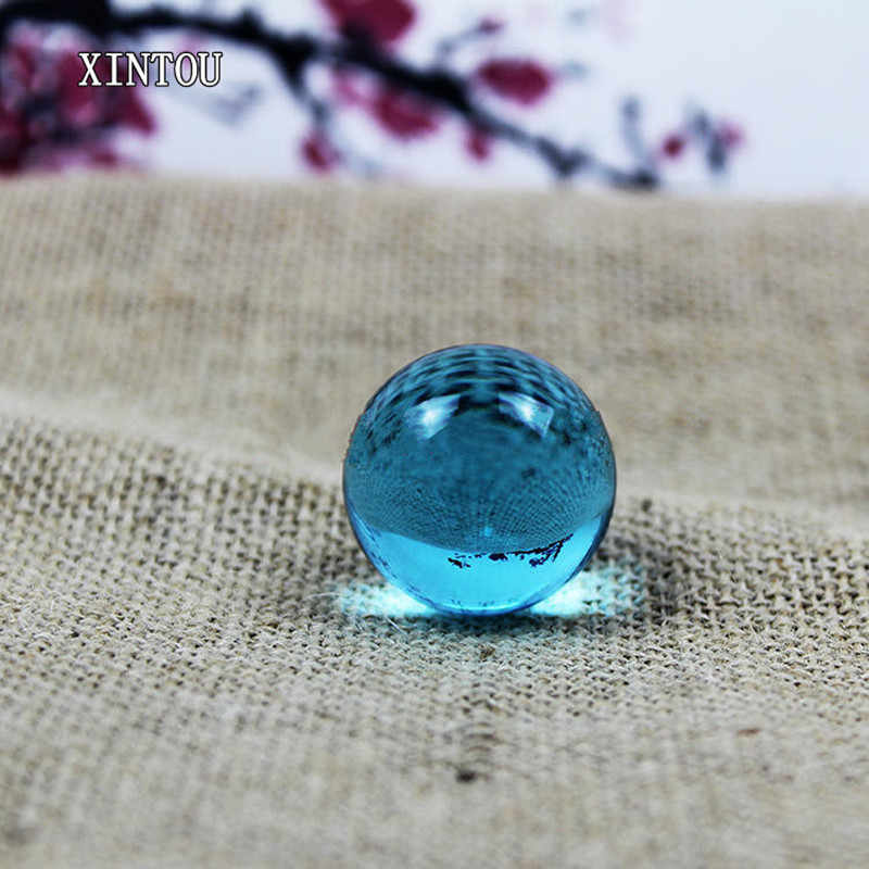 XINTOU 1 Piece  3 cm Crystal Sphere Ball Natural Feng shui Raw Amber Stone Mini Home Office Desk Gadgets Ornaments Garden Decor