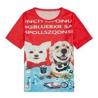 Kawaii t shirt Women Tshirt 2019 Summer Print Plus Size Animal T Shirt Korean Shirts Tops With Dog Prints Female T Shirts Tees