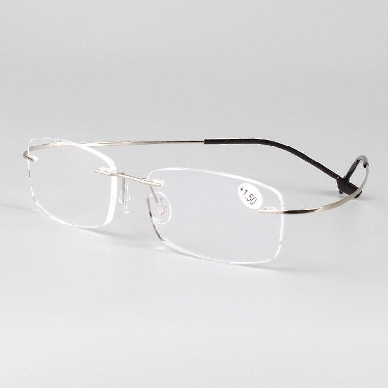 f87e65009c7db Sans monture mémoire titane lunettes flexibles lecture presbyte lunettes  loupes + 1.0 + 1.5 + 2.0 + 2.5 + 3.0 + 3.5 + 4.0 + dans Lunettes de Lecture  de ...