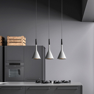 Image 2 - Modern Pendant Lights Kitchen Fixtures For Dining Room Restaurant Bars Home Bedroom White Black Red Lighting Deco Hanging Lamp