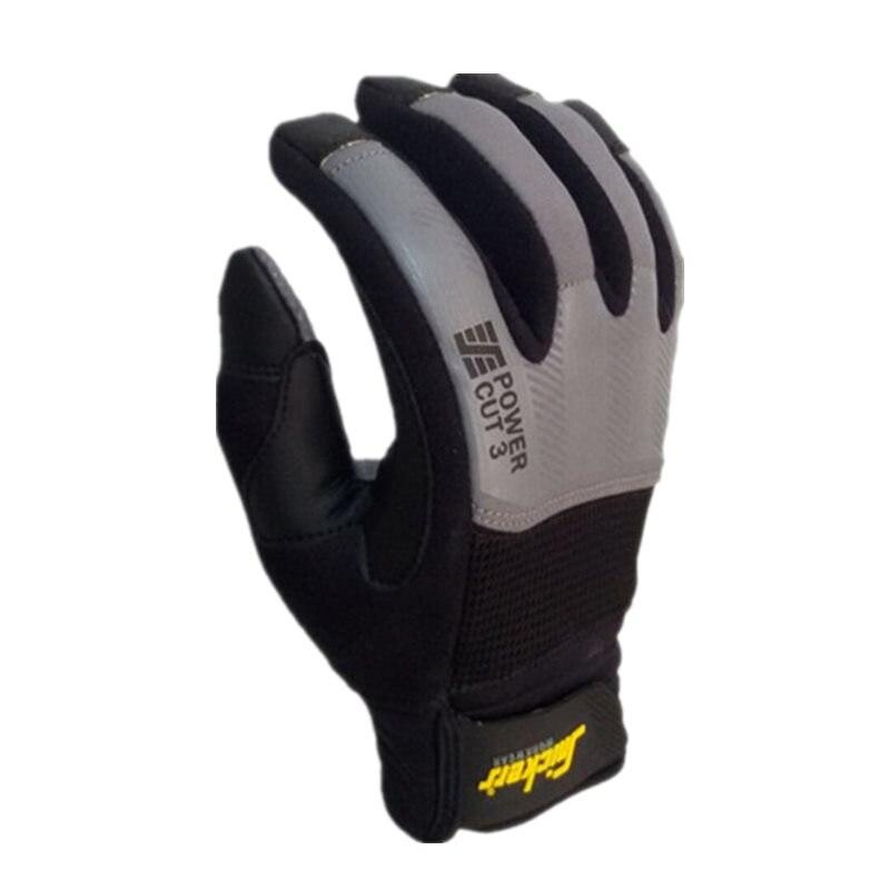 Противоударные прочные нескользящие перчатки с защитой от прокалывания и резки уровня 3 (X-Large,Grey)
