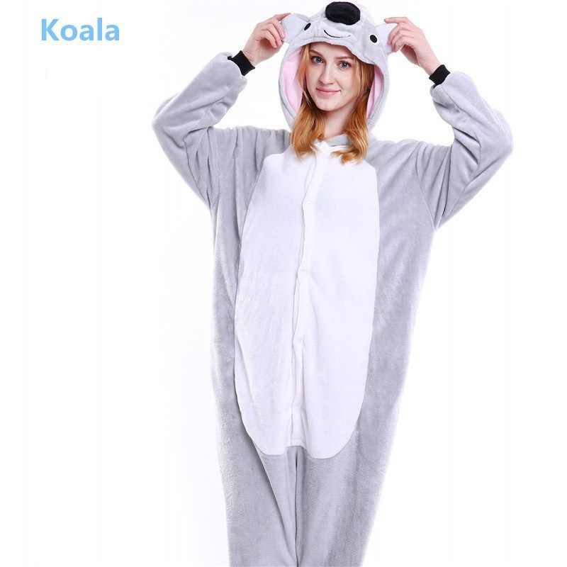 Зимние унисекс для взрослых Кигуруми Пижама в виде животного милый  мультфильм животных фланель с капюшоном пижамы cad5c34bf4f5c