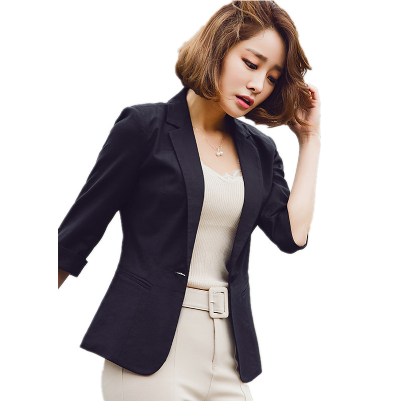 2018 Blazer Ruffle Short 4XL Blazer Notched Spring Plus Size Outwear Suit Women Blazers Jacket Long Sleeve Slim Turn Down Collar