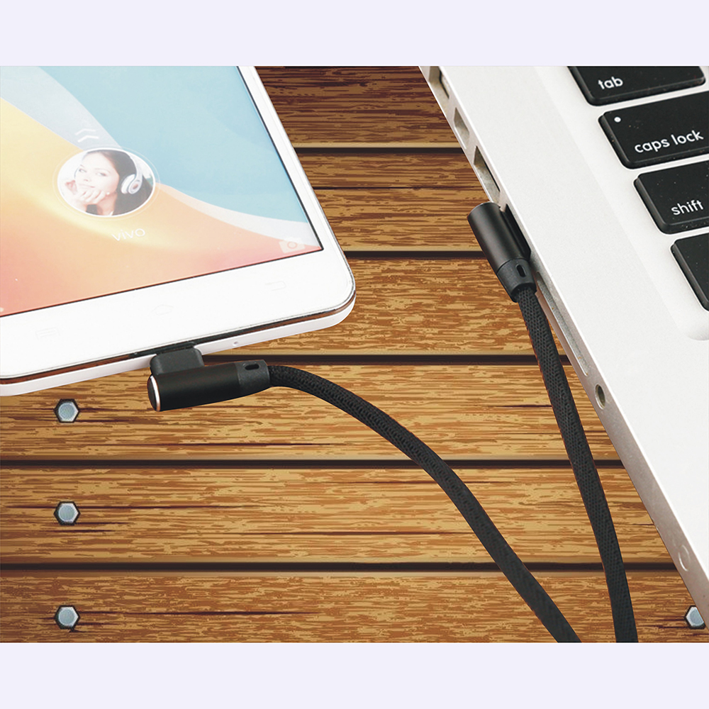 Micro USB Cable Fast Charger Wire 90 Degree Elbow Phone Data Micro 2 4A Charging USB Cable for Xiaomi Samsung Android Microusb in Mobile Phone Chargers from Cellphones Telecommunications