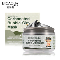 BIOAQUA Brand Face Skin Care Oxygen Bubbles Carbonate Mud Mask Acne Blackhead Treatment Hydrating Moisturizing Facial