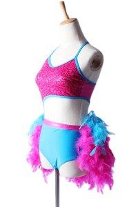 Image 5 - Платье для латинских танцев, костюм для женщин и девочек