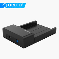 ORICO 6518US3 V2 Super Speed USB 3.0 HDD & SSD Docking Station for 2.5 & 3.5 inch hard drive SATA Support 4TB HDD Black