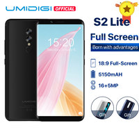 UMIDIGI S2 Lite Cellphone Dual Back Camera 16MP+5MP 5100mAh Big Battery Smartphone 4G LTE18:9 Full Screen Face ID Mobile phone