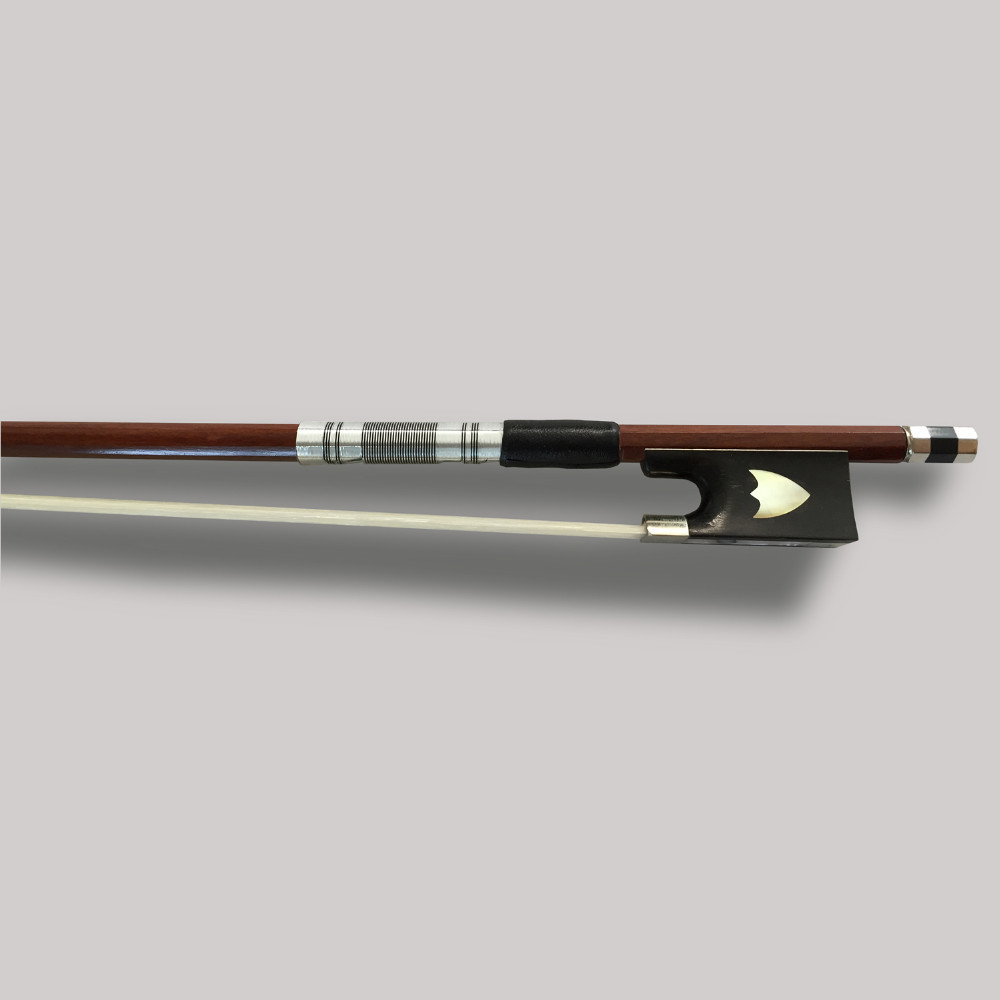 Brazil wood Exquisite 4/4 Violin Bow White Horse hair Violino Bow High Grade Ebony Frog Colored Shell Fiddle Bow Carved Shield 1 4 size 812vb pernambuco violin bow high density ebony frog with nickel silver good quality hair straight violin accessories