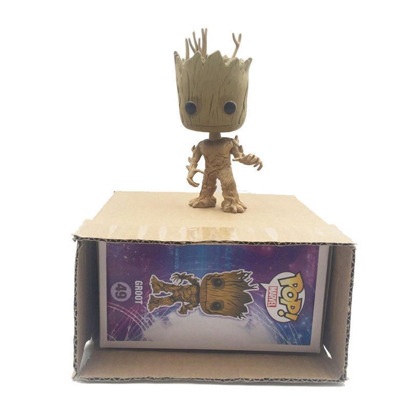 KISSWAWA Funko Pop Groot Fiegure Doll Guardians Of The Galaxy Vinyl Groot Tree Man Collection Toys For Kids Children new funko pop guardians of the galaxy tree people groot