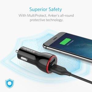 Image 3 - Anker 24W podwójna ładowarka samochodowa USB PowerDrive 2 dla iphonea; Samsung Galaxy; LG G4 / G5; Google Nexus; Urządzenia iOS i Android