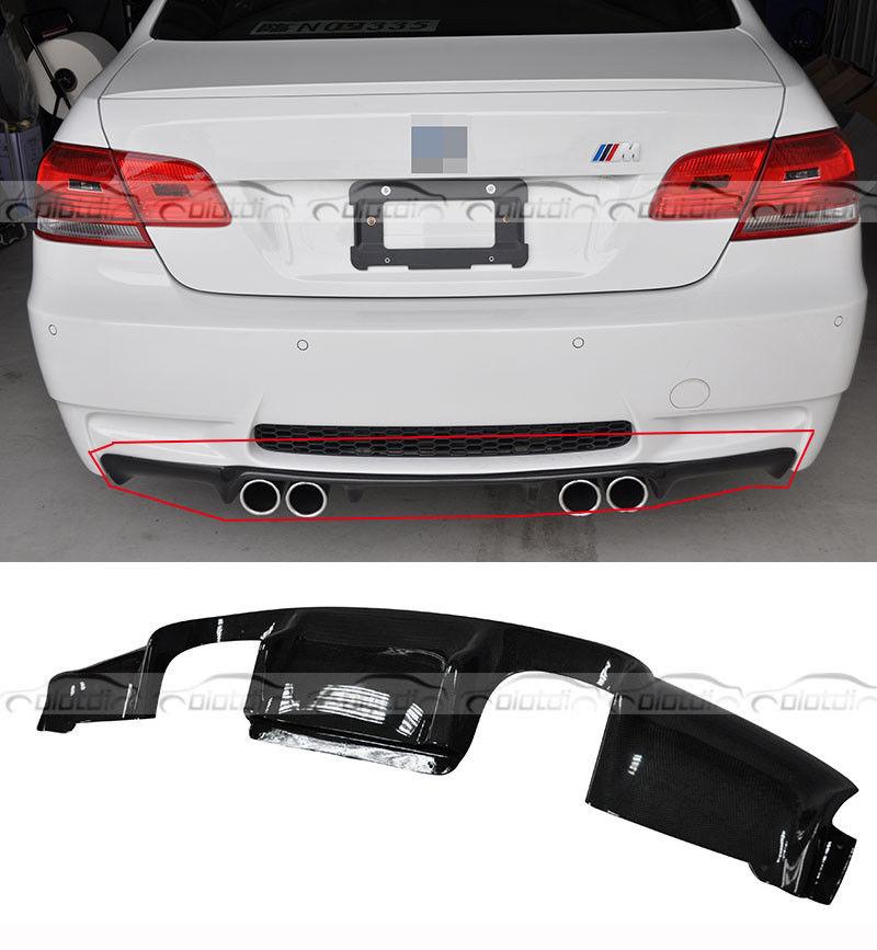 Pare-choc arrière en Fiber de carbone style 3D pour BMW E92 E93 M3 diffuseur arrière auto aileron arrière pour pare-chocs M3
