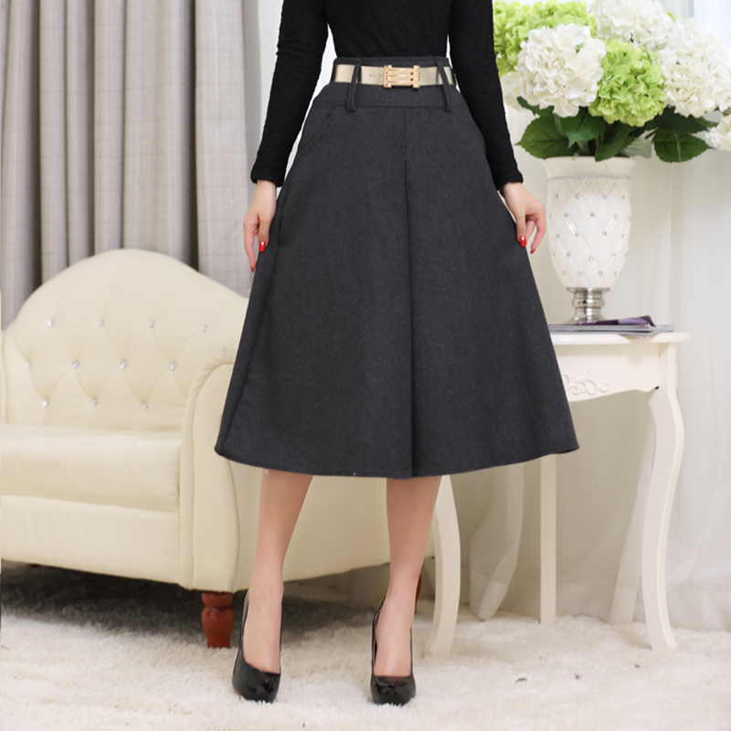 Aliexpress.com : Buy New Vintage Big Hemline A line Flared Skirt ...