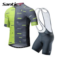 Santic Summer Cycling Jersey Set Short Sleeve Cycling Clothing Men Pro Team 2018 Breathable Bike Jersey