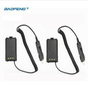 Cheap 2pcs BAOFENG UV-5R Car Charger For UV 5R UV-5RB UV-5RA Two Way Radio CB Walkie Talkie Battery Eliminator UV5R Accessories