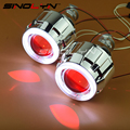 SINOLYN Car/Motorcycle Light 2.5'' HID Bixenon Projector Lens Headlight CCFL Angel Devil Demon Eyes Halo LED Xenon Headlamps