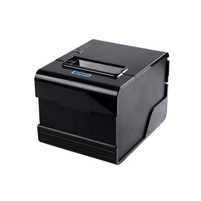 Дешевые высокого класса pos принтера 80 мм тепловая билл принтер с серийный + USB + Lan интерфейс специализируется на ресторан система заказа