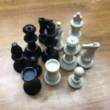 32 Medieval Chess Pieces / Plastic Complete International Word Entertainment Black and White 65 MM