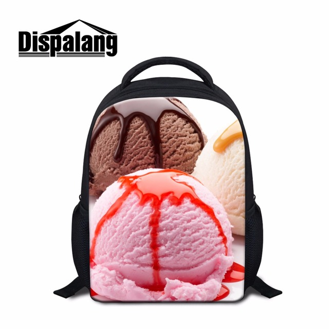 Ice Cream Printed Small Backpacks for Kids Personalized School ...
