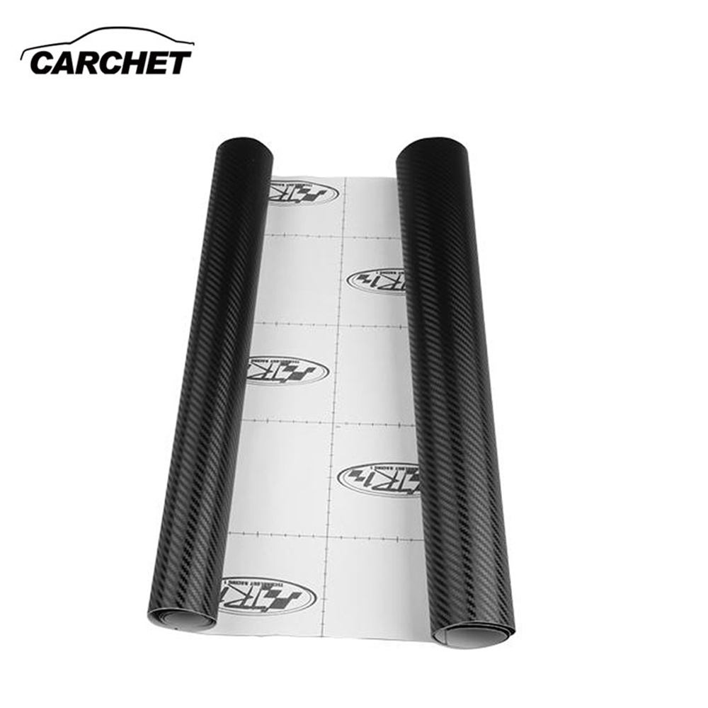 CARCHET 3D Carbon Fibre Vinyl Wrap Sheet Sticker for Car Roof Hood 152*45cm Carbon Fibre Car Wrap Sheet Sticker Car Styling HOT