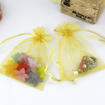 500pcs/lot Gold color Organza Bags 13x18cm Wedding Favour Gift bag Jewelry pouches