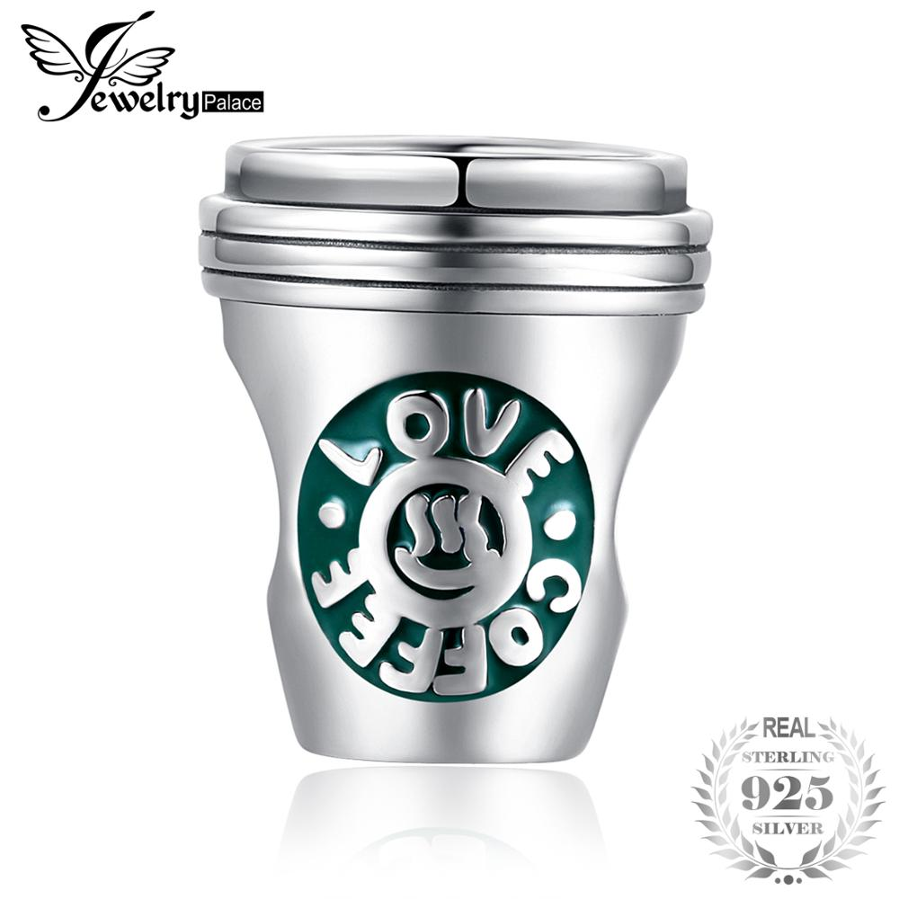 JewelryPalace 925 Sterling Silver Coffee Cup Green Enamel Charm Beads Fit Bracelets As Beautiful Gifts New Hot Sale For WomenJewelryPalace 925 Sterling Silver Coffee Cup Green Enamel Charm Beads Fit Bracelets As Beautiful Gifts New Hot Sale For Women