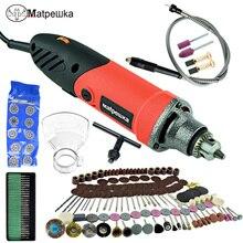 Mini graveur électrique de perceuse avec la Machine de perçage de travail des métaux de Dremel de vitesse Variable 6 polissant 110 V/220 V avec laxe Flexible