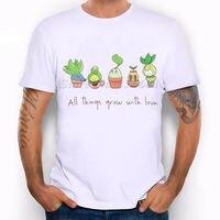 Grow Wierd Cây Hipster Tình Yêu Dễ Thương Vui Joke Men T Shirt Tee