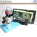 Eakins 7-45X Simul-focal Тринокулярный Стерео зум микроскоп 13MP HDMI микроскоп vga камера 56 светодиодный свет изоляции коврик