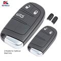 Запасной смарт-чехол KEYECU для ключей с дистанционным управлением  2 / 3 кнопки для Jeep Grand Cherokee 2013-2015  FCC ID: M3N-40821302