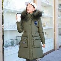 2017 так Толстый Высокое качество меховой воротник Для женщин зимние длинные пальто куртка теплые женские Parker женский пальто хлопок пальто з...
