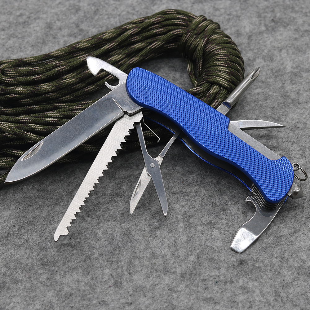 High Quality Blue Multi-functional Tool Swiss Knife Outdoor Camping Survival Rescue knife Folding Army Knife EDC New Cool lava u1 vnl