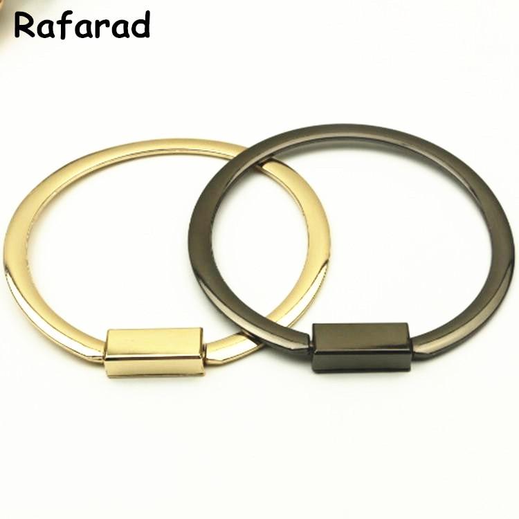 Asas Para Bolsa Wholesale China On Line Store Fashion Metal Purse Handle O Bag Purse Frame Handles DIY Accessories Metal Handle