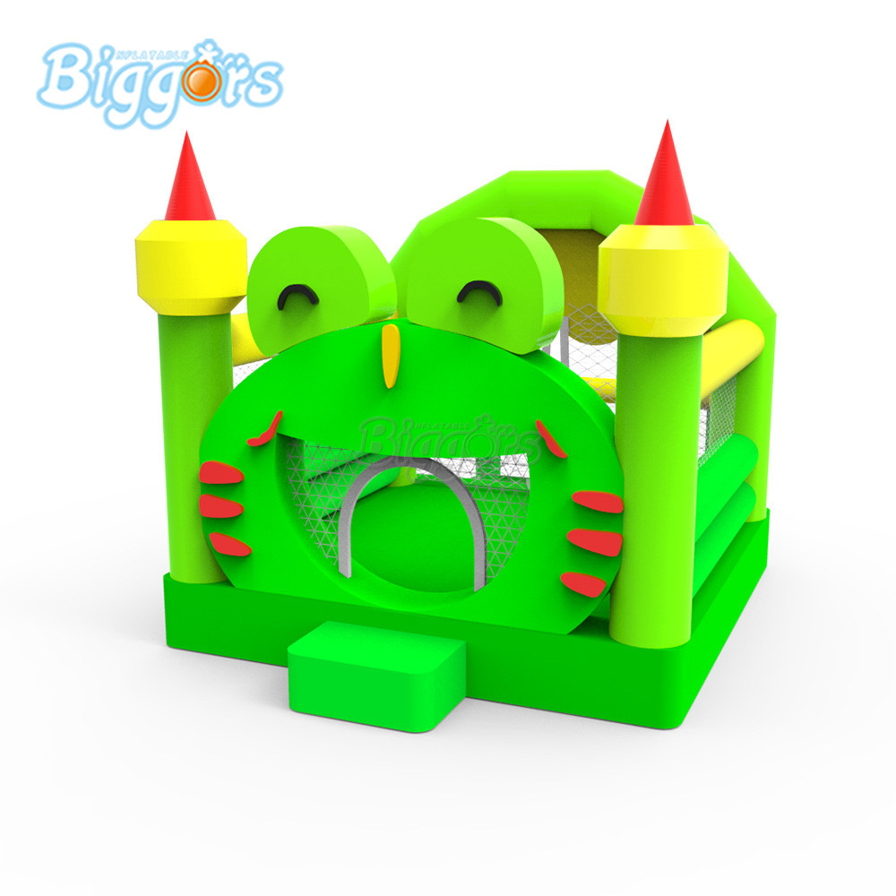 Inflatable Frog playground inflatable bounce house bouncy castle with blowers