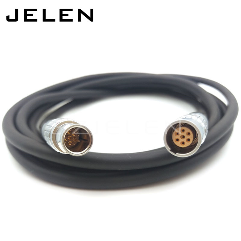 7 pin connector , FGG.1b.307.CLAD 7-pin plug (male) to 7-pin connector plug (female) PHG.1B.307.CLL. Cable length; 3 m lemo connector 10pin plug fgg 1b 310 clad62z metal plug self locking connector 10pin plug lemo 1b fgg10 pin male