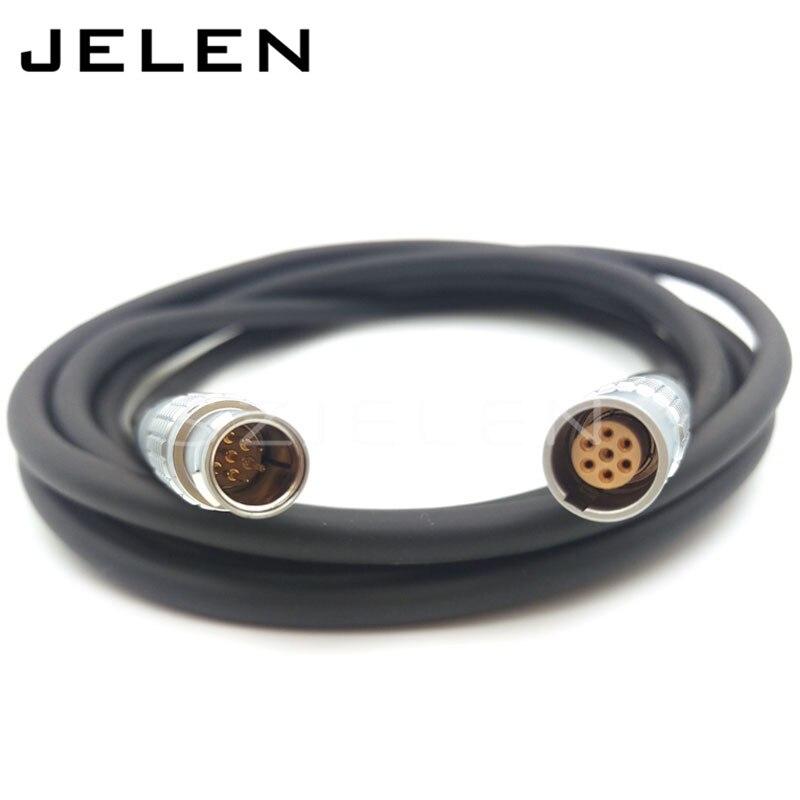 цена на LEMO 7 pin connector , FGG.1b.307.CLAD 7-pin plug (male) to 7-pin connector plug (female) PHG.1B.307.CLL. Cable length; 3 m