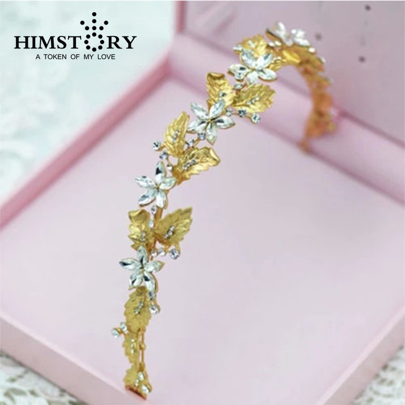 Bridal Jewelry European Golden Olive Leaf  Hair Accessories ,Wedding tiaras Chain Headpiece
