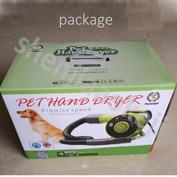 Фен для волос для домашних собак 2500 Вт Высокая мощность низкий уровень шума сушилка для груминга 220 В/110 В/230 В/240 в четыре напряжения дополнительно 1 шт